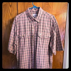 Men's Shortsleeved Carhartt Button down shirt